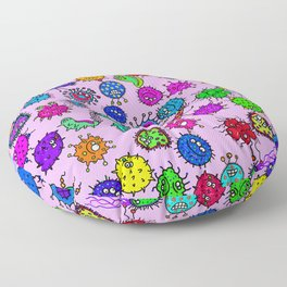 Bacteria Background Floor Pillow