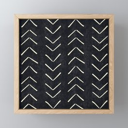 Mudcloth Big Arrows in Black and White Framed Mini Art Print