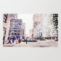 nyc Area & Throw Rugs featuring NYC by Christine Workman