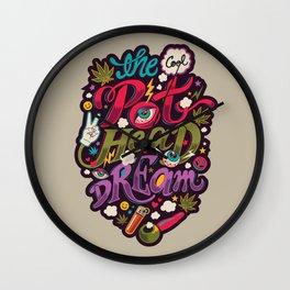 The Cool Pothead Dream Wall Clock