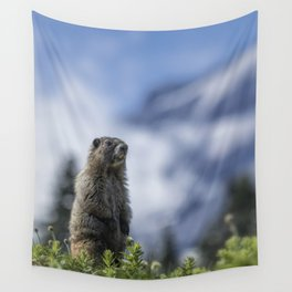 Marmot Checking Out His Neighborhood at Mount Rainier, No. 3 Wall Tapestry