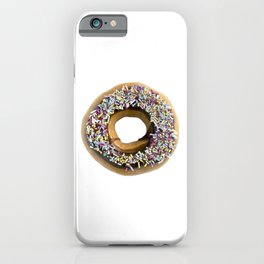 Chocolate Ring Donut Covered With Sprinkles iPhone Case