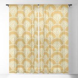 Yellow Wabi Sabi Wave II Sheer Curtain