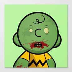 Zombie Charlie Brown Canvas Print