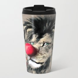 Circus Lion Clown Metal Travel Mug