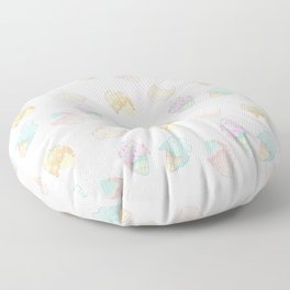 Pastel Melted Ice Cream (White) Floor Pillow