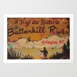 Battenkill River, Arlington Vermont Art Print