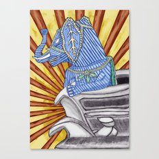 Super Senior Elephante Canvas Print