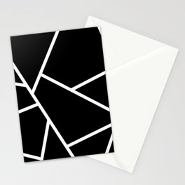 Black and White Fragments - Geometric Design II Stationery Cards