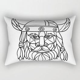 Norseman Black and White Mosaic Rectangular Pillow