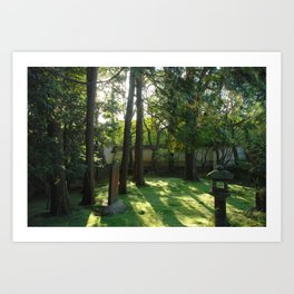 Temple Grounds in Kyoto, Japan Art Print