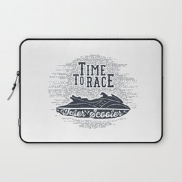 Time To Race. Water Scooter Laptop Sleeve