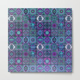 V14 Traditional Moroccan Pattern ART Design. Metal Print