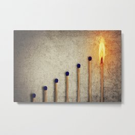 match stairsteps concept Metal Print