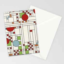 Stained glass pattern S02 Stationery Cards