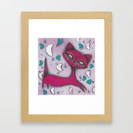 Bonnie Cat Framed Art Print