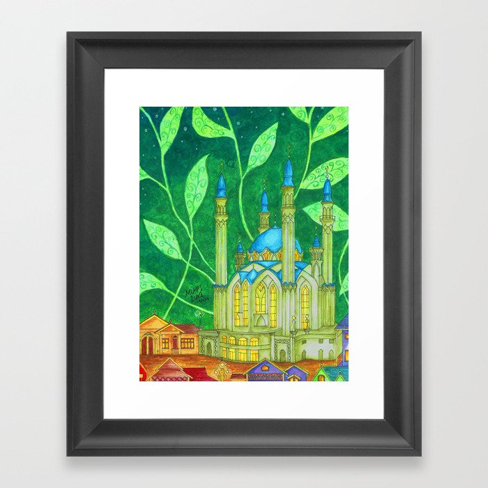 The Country Under The Leaves Framed Art Print by mimpiluna | Society6