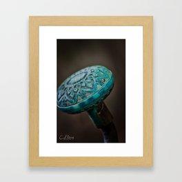 Copper Knob Framed Art Print