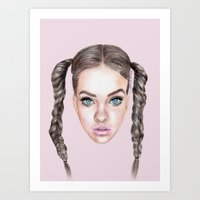 manga Art Prints featuring Miss Manga by Michaela Ramstedt