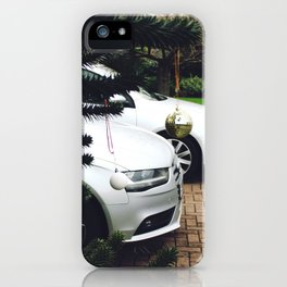 Luxury residential house with cars in front iPhone Case