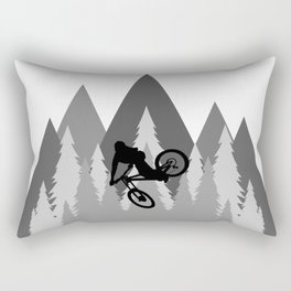 MTB Whip Gray Rectangular Pillow