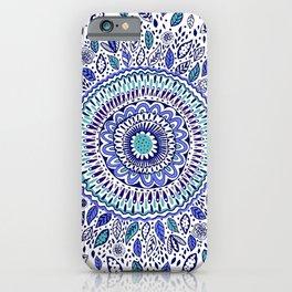 Indigo Flowered Mandala iPhone Case
