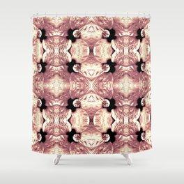 Shiny Old Rose Flower Design, Pattern Shower Curtain