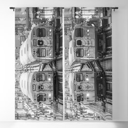Black and White Chicago Train El Train above Wabash Ave the Loop Windy City Blackout Curtain