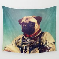 spaceman Wall Tapestries featuring A Point To Prove by rubbishmonkey