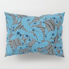 Mandala Blue Grey Abstract Pillow Sham