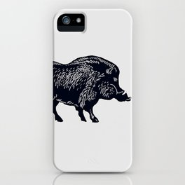 The Majestic Hog iPhone Case
