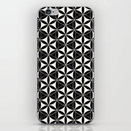 Flower of Life Pattern black-white iPhone Skin