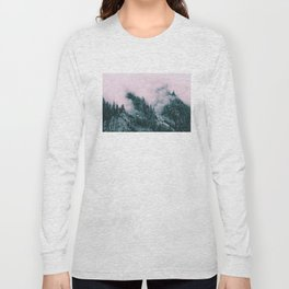 Pink Clouds Creeping Long Sleeve T-shirt