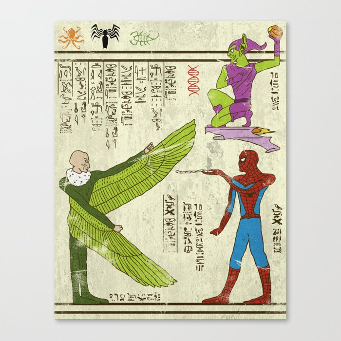 Hero-glyphics: Web-Slinger  Canvas Print