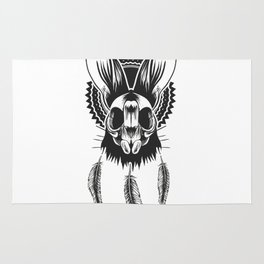 Bunny Skull Rug