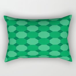 Green Octagons Rectangular Pillow