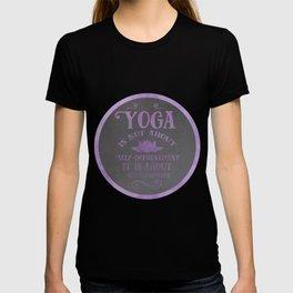 Yoga Philosophy Typography Art T-shirt