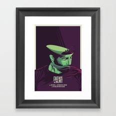 Enemy - Alternative movie poster Framed Art Print