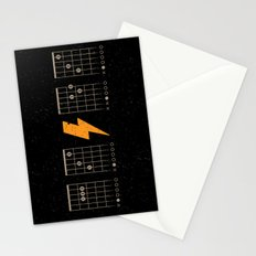 ACDC Back in Black Stationery Cards