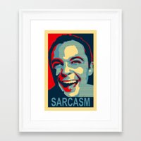 sarcasm Framed Art Prints featuring Sarcasm by kelpie