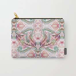 Lily, Leaf & Triangle Pattern – multi-color version Carry-All Pouch