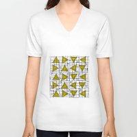 yellow pattern V-neck T-shirts featuring Yellow by Ivano Nazeri