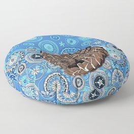 pangolin mandala blue Floor Pillow