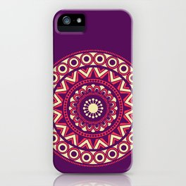 Mandala Marimekko Style Purple iPhone Case