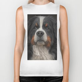Bernese Mountain Dog Biker Tank