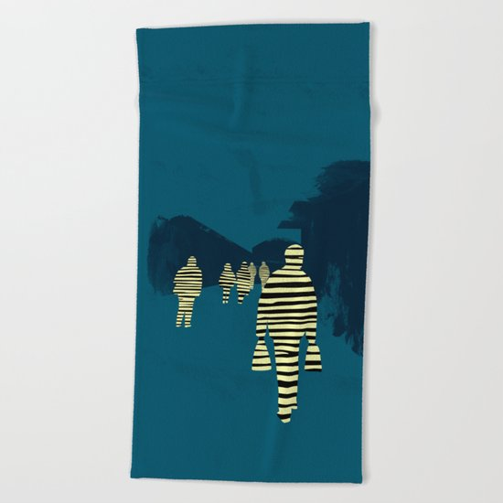 attraction Beach Towel