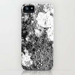 Negative Full Moon Print, by Christy Nyboer iPhone Case