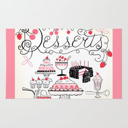 Sweet And Lovely Desserts  Rug