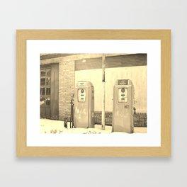 Gas Freeze Framed Art Print