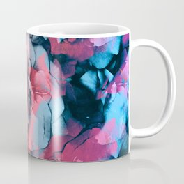 Colorful Roses | Real Flowers, Floral Photo, Red Roses, Blue Roses, Pressed Flowers, Botanical Coffee Mug